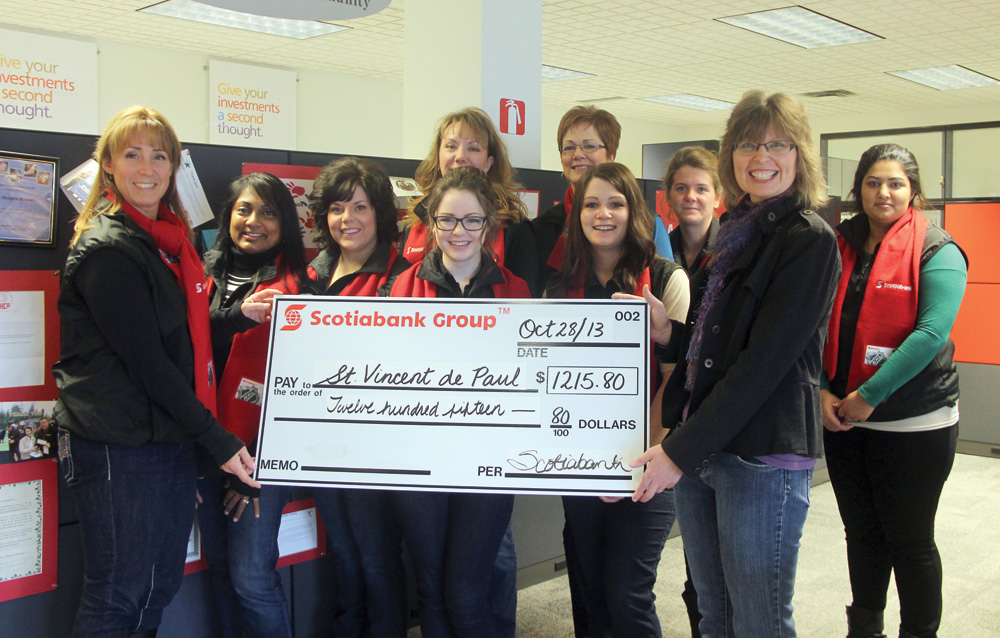 Prince George Free Press » Scotiabank gives St  Vincent de Paul boost