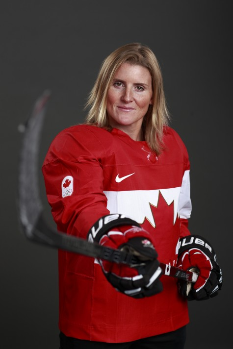 Hockey player Hayley Wickenheiser will be the Canadian Olympic Team flag bearer for the Opening Ceremony at the Sochi 2014 Olympic Winter Games. Jeff VINNICK/Hockey Canada