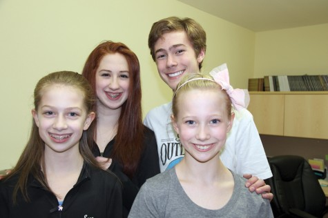 Siblings Sara, left, and Kate McGowan and Steven and Laura Buchanan from Judy Russell Enchainement Dance Centre are among the select few talented dancers chosen to perform at the B.C. Provincials in Penticton in June. Teresa MALLAM/Free Press