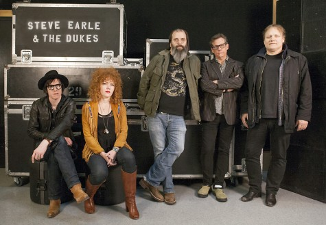 Steve Earle, centre, is coming back to Prince George – and this time he's bringing friends. Steve Earle and the Dukes will be at Vanier Hall on June 26. Photo submitted