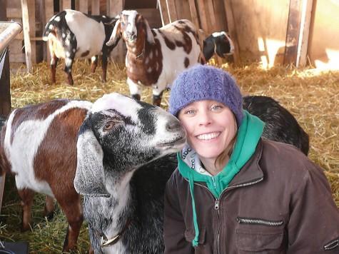 "Trisha Gustafson gets a kiss from ""Skye.""  Photo contributed"