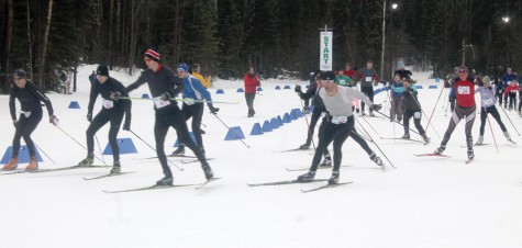 The 28th annual Prince George Iceman got underway Sunday morning with the skiers hitting the trails at Otway Nordic Centre. Allan WISHART/Free Press