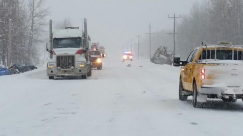 Scene of a fatal crash near Fraser Lake Thursday. Photo courtesy of the RCMP