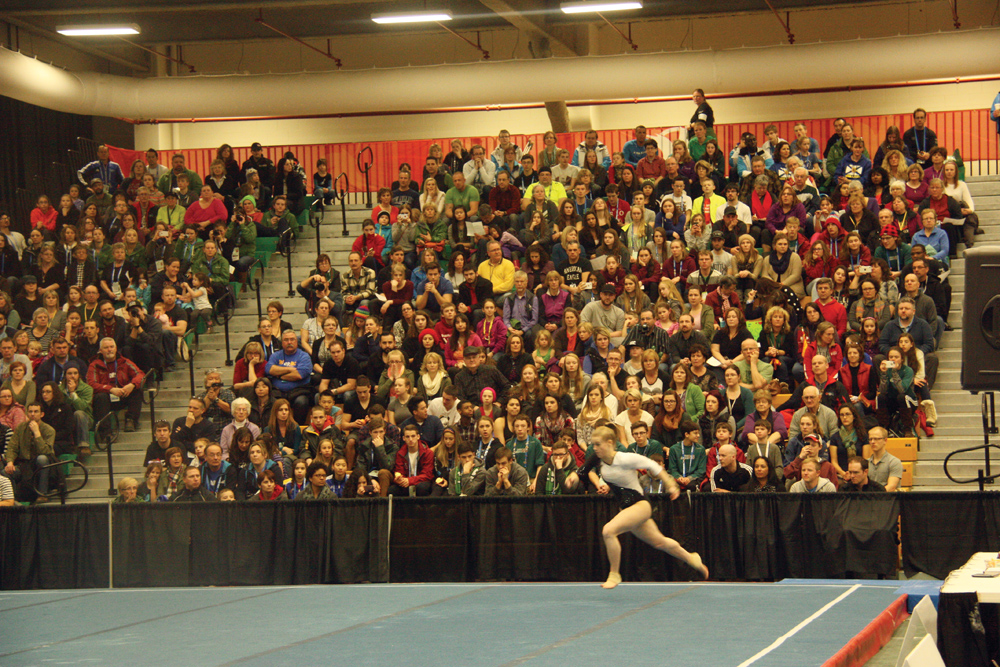 The stands at the Northern Sport Centre were packed for the gymnastics events, a common sight at 2015 Canada Winter Games venues around the city. Allan WISHART/Free Press