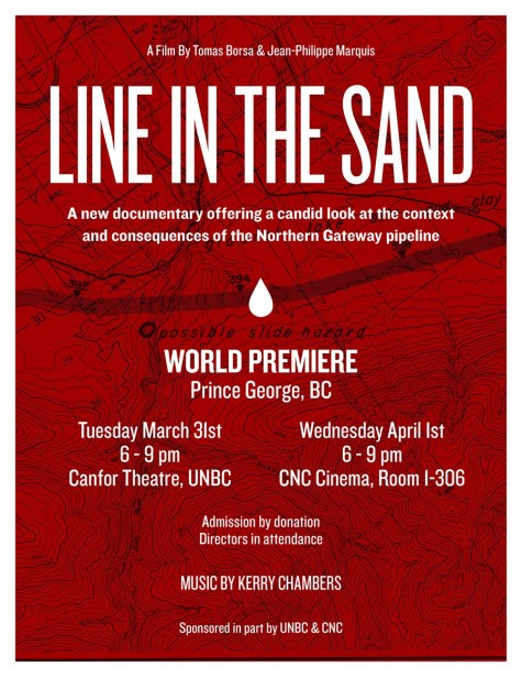 Announcement of Premier Screening Line in the Sand a film about the Enbridge Pipeline