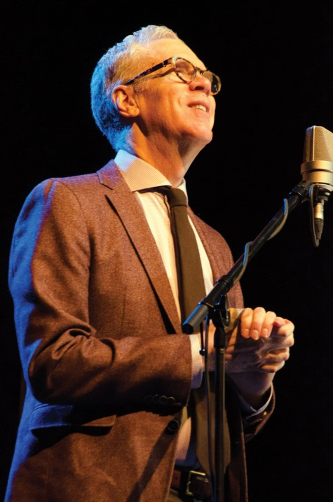 Stuart McLean gets down to the business of storytelling at CN Centre on Sunday.  Jim VANDERPLOEG/Special to Free Press