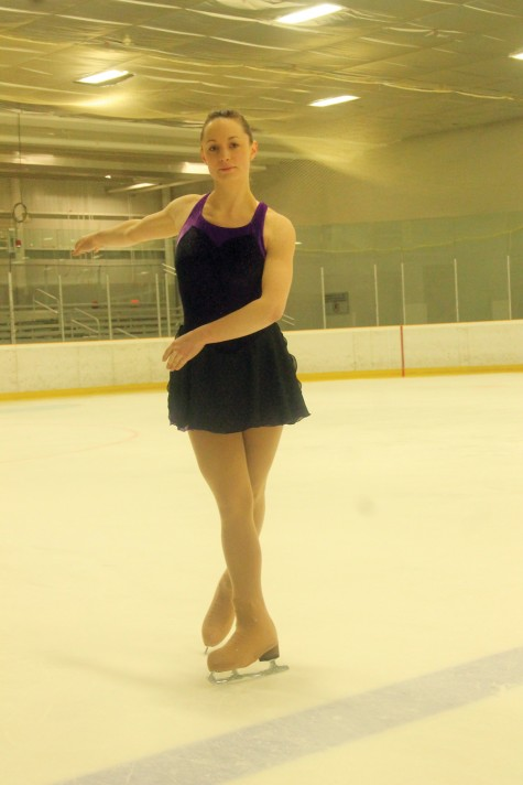 Chantal Pazdzierski-Litke has a busy weekend ahead, as she will be skating in an ice show tonight at the Coliseum, coaching a group of junior skaters in the show, and then taking skating tests tomorrow. Allan WISHART/Free Press