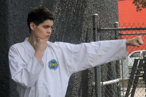 Cole Abou-Tibbett, 17, will be competing at the ITF (International Taekwon-do Federation) world junior and senior championships, held May 27 to 31 in Jesolo, Italy. The community can support the local athlete at www.gofundme.com/coletoworlds. Teresa MALLAM/Free Press