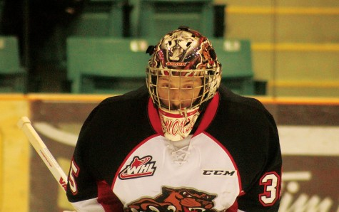 Goalie Ty Edmonds is one of three netminders and more than 20 players eligible to return to the Prince George Cougars next season. Bill PHILLIPS/Free Press
