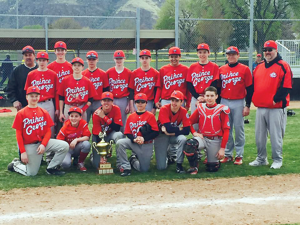 It was a great first tournament for the Bantam AA Knights in Kamloops on the weekend, as the local baseball team went 5-0 to win the Big League Experience Best of the West. The team has held most of its practices indoors, with just two outside. Photo Submitted