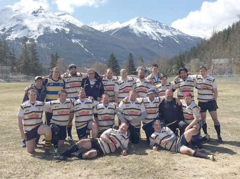 The Prince George Gnats Rugby Club got warmed up for the upcoming season by taking part in a 7s tournament in Jasper on the weekend. Courtesy Prince George Gnats